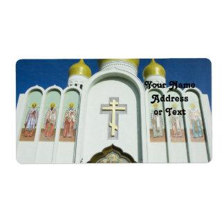 Etiqueta Iglesia ortodoxa rusa