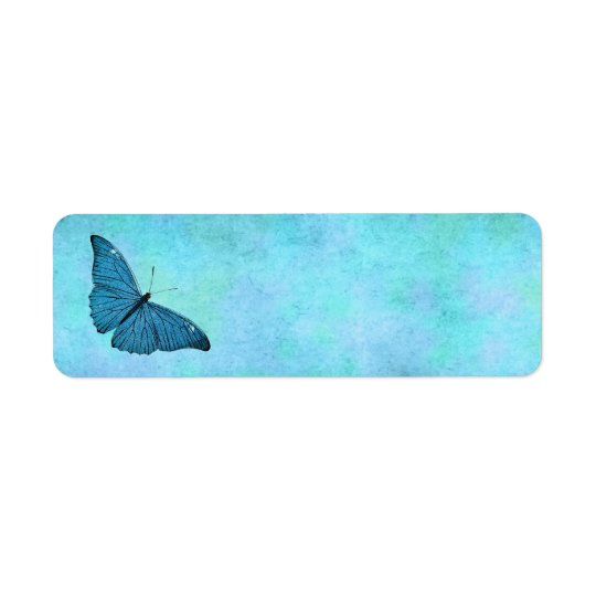 Etiqueta Ilustracion azul verde azulado de los 1800s de la
