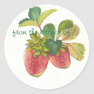 Etiqueta ilustrada de la cocina de la FRESA