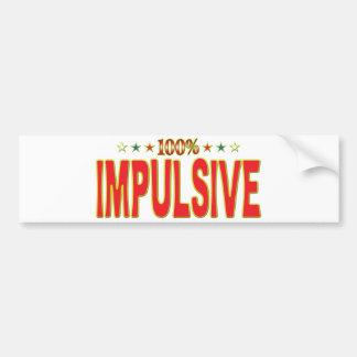 Etiqueta impulsiva de la estrella pegatina para coche
