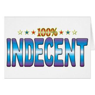 Etiqueta indecente v2 de la estrella felicitaciones