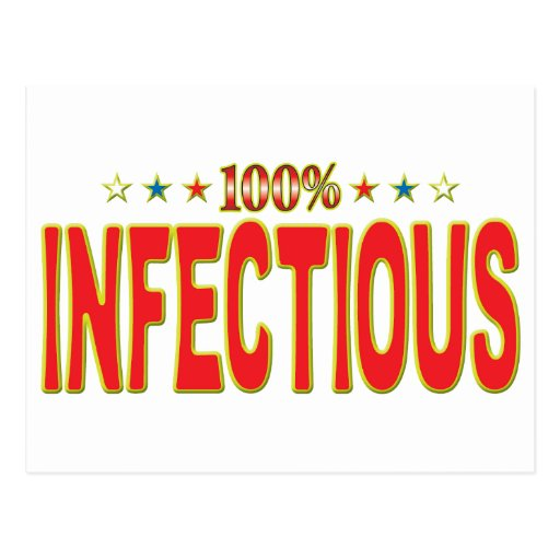 Etiqueta infecciosa de la estrella postales