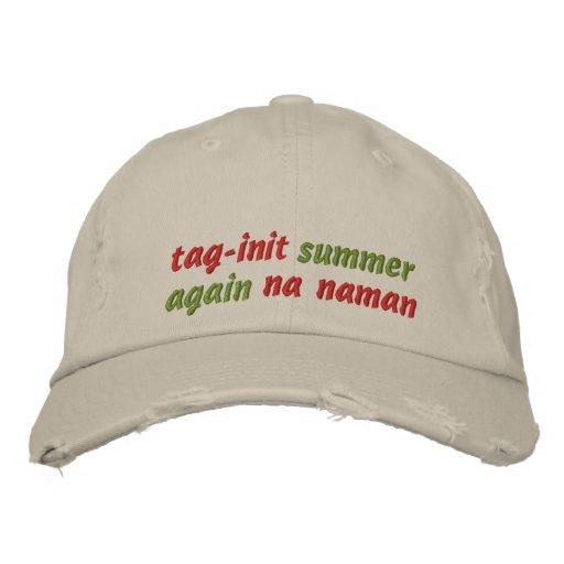 etiqueta-init, verano, otra vez, naman del na gorra de beisbol