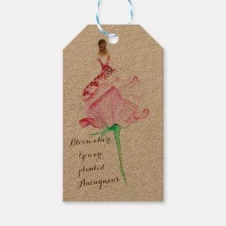 Etiqueta inspirada del regalo para sus amadas etiquetas para regalos