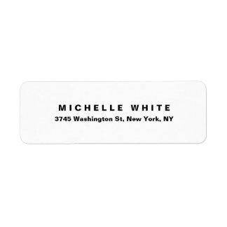 Etiqueta Intrépido negro y blanco minimalista moderno