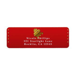 Etiqueta Invitación roja del fiesta de Hollywood de las