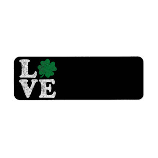 Etiqueta Irlandés del trébol del AMOR del día de St Patrick