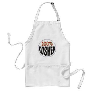 Etiqueta kosher delantal