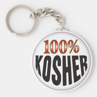 Etiqueta kosher llavero personalizado