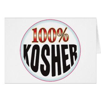 Etiqueta kosher tarjetas