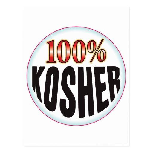 Etiqueta kosher tarjetas postales