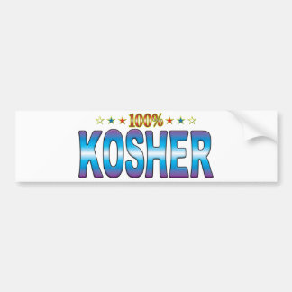 Etiqueta kosher v2 de la estrella etiqueta de parachoque