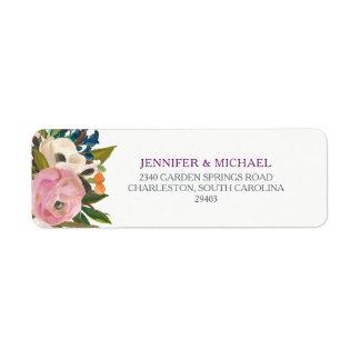 Etiqueta La acuarela florece el boda