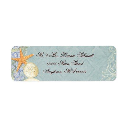 Etiqueta La cabaña floral por el mar descasca el boda con p