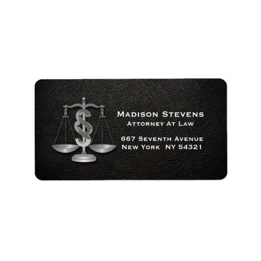 Etiqueta La justicia del abogado escala el cuero del
