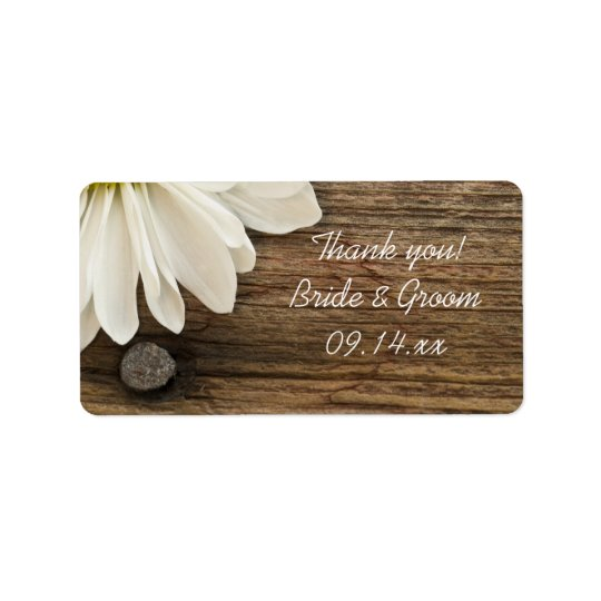 Etiqueta La margarita blanca y el boda de madera del