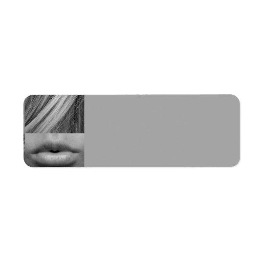 Etiqueta la MUJER de la MODA del BLANCO GRIS eye-537597