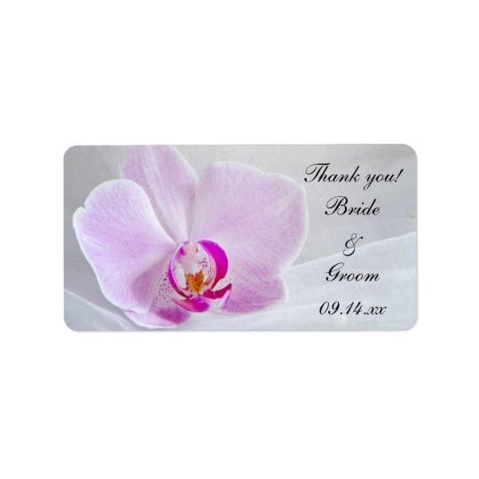 Etiqueta La orquídea rosada y el boda del velo le agradecen