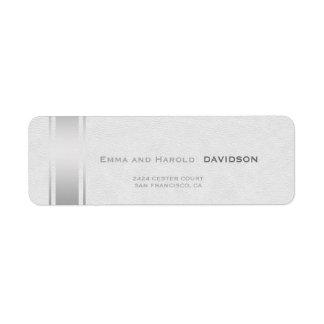 Etiqueta La plata raya el monograma del personalizado del