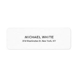 Etiqueta Legible minimalista blanco negro moderno llano