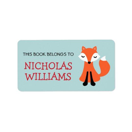 Etiqueta Libro animal del bookplate del dibujo animado lind