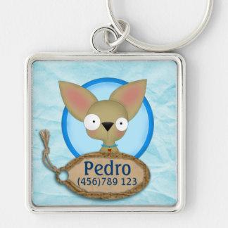 Etiqueta linda de la identificación del perro de l llaveros personalizados