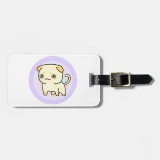 Etiqueta linda del equipaje del gatito con la