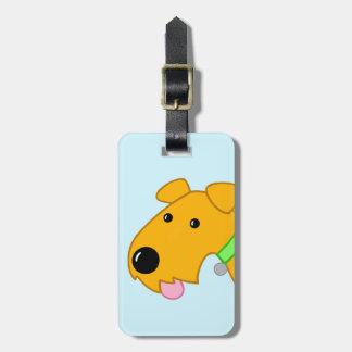 Etiqueta linda del equipaje del primer del perro