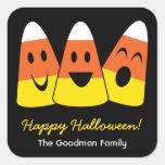 Etiqueta linda del favor de Halloween de la