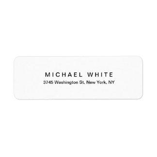 Etiqueta Llano minimalista moderno único blanco negro