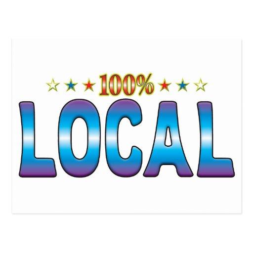Etiqueta local v2 de la estrella tarjeta postal