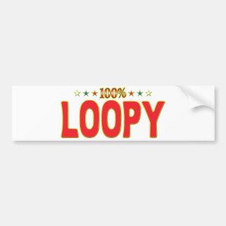 Etiqueta Loopy de la estrella Etiqueta De Parachoque