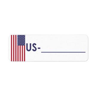 "Etiqueta los E.E.U.U. ""estilo de la identificación"