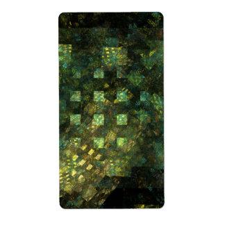 Etiqueta Luces en el fractal del arte abstracto de la