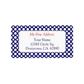 Etiqueta Lunares blancos en la nueva dirección de encargo