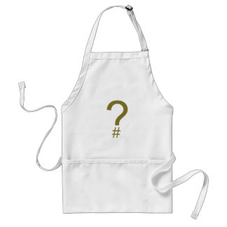Etiqueta/marca índice amarillas de la pregunta delantal