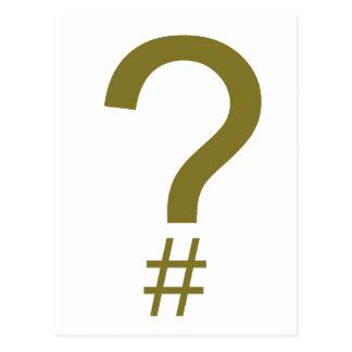 Etiqueta/marca índice amarillas de la pregunta postal