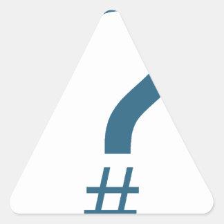 Etiqueta/marca índice azules/ciánicas de la pegatina triangular