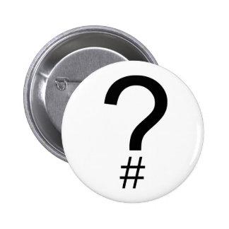 Etiqueta/marca índice de la pregunta chapa redonda 5 cm