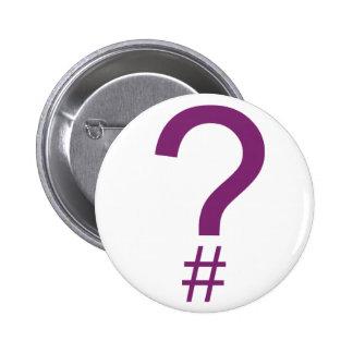 Etiqueta/marca índice púrpuras de la pregunta chapa redonda 5 cm