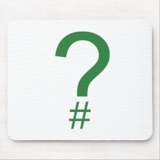 Etiqueta/marca índice verdes de la pregunta alfombrilla de ratones