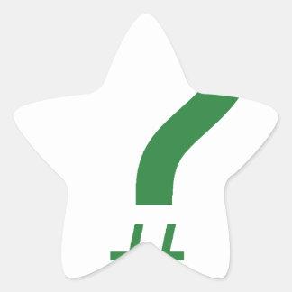 Etiqueta/marca índice verdes de la pregunta