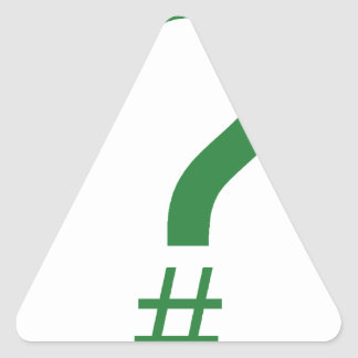 Etiqueta/marca índice verdes de la pregunta pegatina triangular