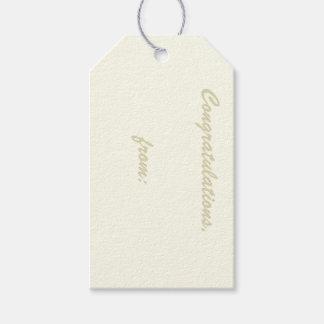 Etiqueta Marfil-Coloreada del regalo de la Etiquetas Para Regalos