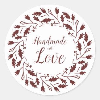 Etiqueta Marrón para Artículos Artesanos Handmade