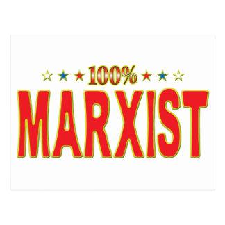 Etiqueta marxista de la estrella tarjetas postales