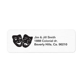 Etiqueta Máscaras del teatro del drama de la tragedia de la