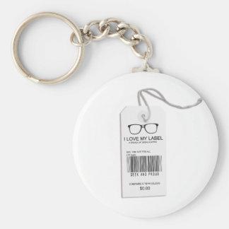 Etiqueta masculina del friki llaveros personalizados
