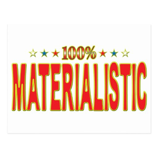Etiqueta materialista de la estrella postales