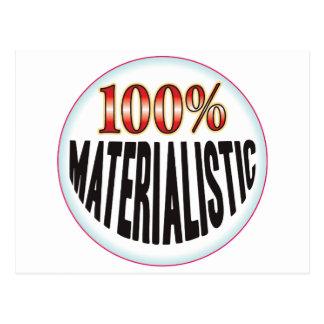 Etiqueta materialista postal
